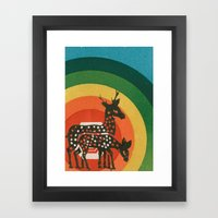 Deer Medicine Framed Art Print