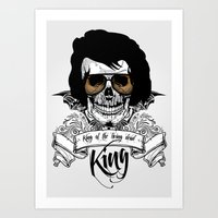 Elvis Presley | The King of the Living Dead Art Print