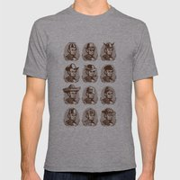 Abe Tries On Hats Mens Fitted Tee Athletic Grey SMALL