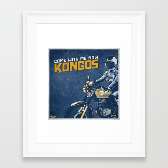 7 inch series: KONGOS - come with me now Framed Art Print