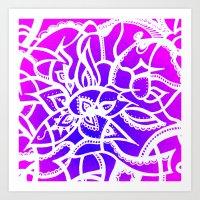 Pink & Purple Love Art Print
