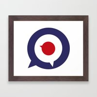 Mod thoughts Framed Art Print