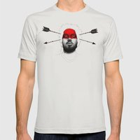 None Shall Pass Mens Fitted Tee Silver SMALL