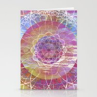 Glitch Mandala Stationery Cards