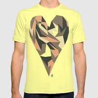 Heart Mens Fitted Tee Lemon SMALL