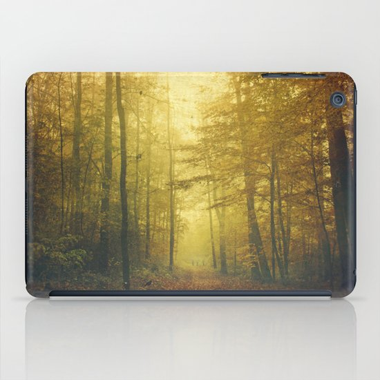 fall morning forest iPad Case