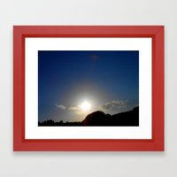 Canyon Sunset Framed Art Print