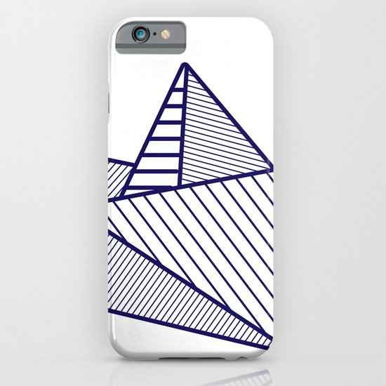 Fune, navy lines iPhone & iPod Case
