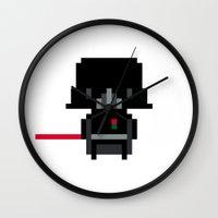 Pixel Darth Vader Wall Clock