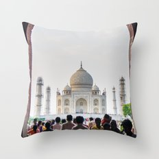 Entering the Taj Mahal Throw Pillow