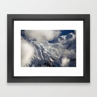 Mountaintop from Upper Pisang Framed Art Print