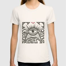 All seeing eye Womens Fitted Tee Natural SMALL