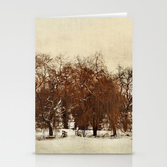 Winter Red Stationery Card