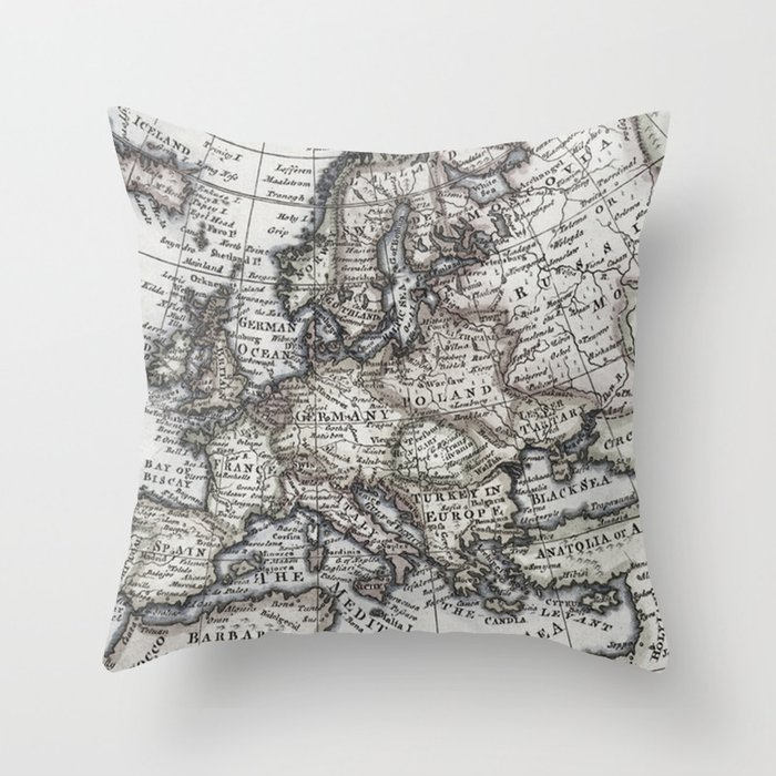 Throw Pillows With World Map : Old World Map Throw Pillow by Upperleft Studios Society6