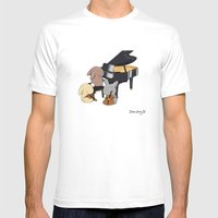 Bunny Trio Mens Fitted Tee White SMALL