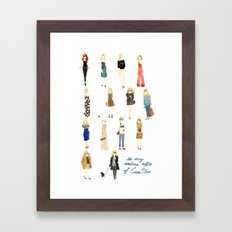 The Many Wondrous Outfits of Emma Stone Framed Art Print