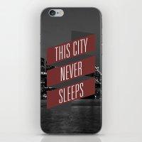 This City Never Sleeps iPhone & iPod Skin