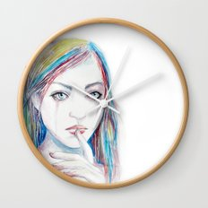 Never say a word Wall Clock