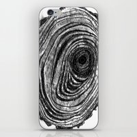 Tree Rings - Dark iPhone & iPod Skin