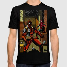 The Amazing Spider-Pool SMALL Black Mens Fitted Tee
