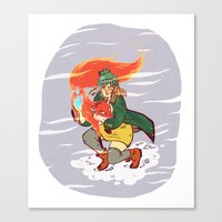 The Detective and the Fox Canvas Print
