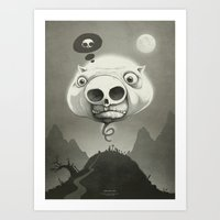 This is Hollow Pig! Art Print