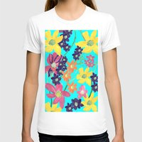 Floral Womens Fitted Tee White SMALL