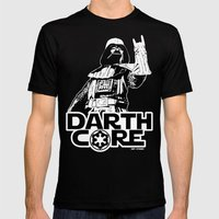 Darthcore Mens Fitted Tee Black SMALL