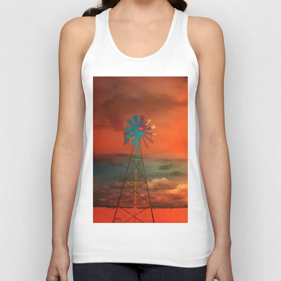 Red Sky at Night Unisex Tank Top