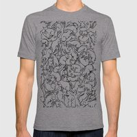 Bunny Pattern Mens Fitted Tee Athletic Grey SMALL
