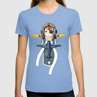 Pilot Banner Womens Fitted Tee Tri-Blue SMALL