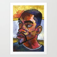 Anthony Waiting in the Car Art Print