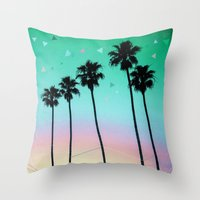 Palm Trees 4 Throw Pillow