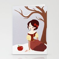 Skin White as Snow Stationery Cards
