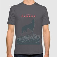 Visit Canada Mens Fitted Tee Asphalt SMALL