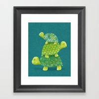 Turtle Stack Framed Art Print