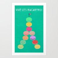 Baker's Joy Collection: Macaron Eiffel Tower Art Print