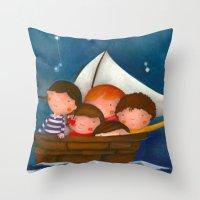 At The Sea Throw Pillow