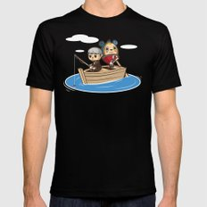 Social Fishing SMALL Mens Fitted Tee Black