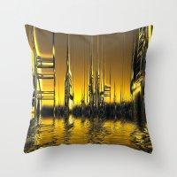 Futurescape Throw Pillow