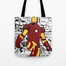 Iron Man Comic Tote Bag