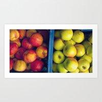 An apple a day. Art Print