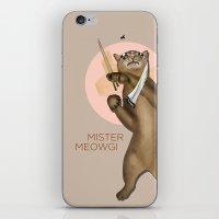 Mr. Meowgi iPhone & iPod Skin