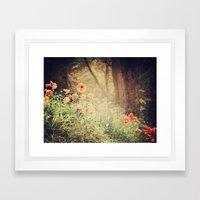 Orange Pop Framed Art Print