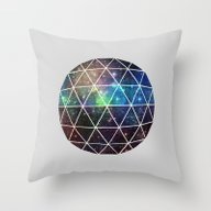 Throw Pillow featuring Space Geodesic by Terry Fan