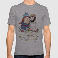 Warmest Holiday Wishes Mens Fitted Tee Athletic Grey SMALL