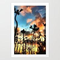 Calico Skies Art Print