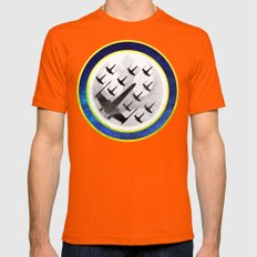 Star Wars Wraith Squadron Mens Fitted Tee Orange SMALL