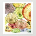 Paper Umbrellas Art Print
