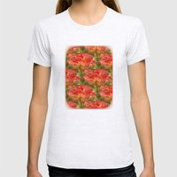Roses Galore Womens Fitted Tee Ash Grey SMALL
